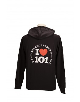 FELPA CAPPUCCIO I LOVE 101
