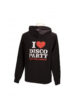 FELPA CAPPUCCIO I LOVE DISCO PARTY