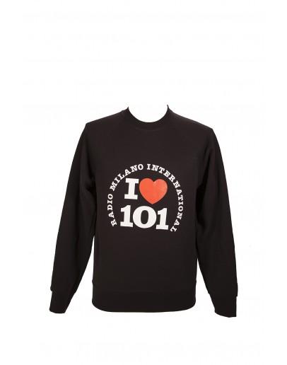 FELPA GIROCOLLO I LOVE 101